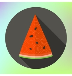 flat icon sliced watermelon vector image