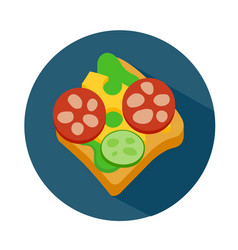 Flat style sandwich icon vector