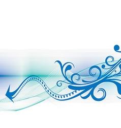 floral wave vector image