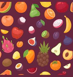fruits fruity apple banana and exotic vector image