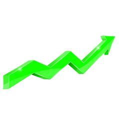 Green up rising arrow vector