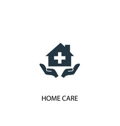home care icon simple element home vector image