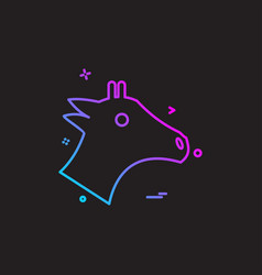 horse icon design vector image