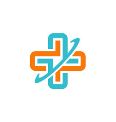 hospital cross medicine sign logo vector image