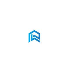 house building shape line company logo vector image