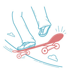 Icon skateboarder doing a jumping trick vector