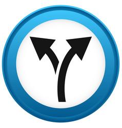Icon with 2 way arrow branch diversion icon vector