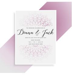 Indian style wedding card template design vector