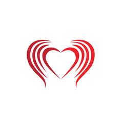 Love logo template vector