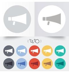 Megaphone soon icon Loudspeaker symbol vector image