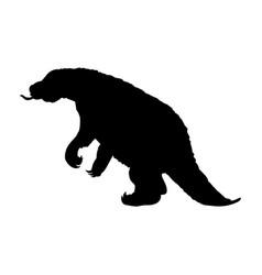 Megatherium silhouette extinct prehistoric mammal vector
