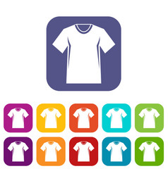 men tennis t-shirt icons set vector image vector image