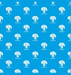 mushroom pattern seamless blue vector image