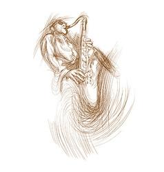 Musician Sax player vector