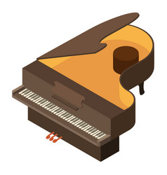 piano icon isometric style vector image