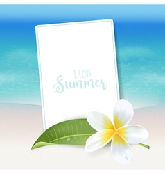 Realistic Sea Background Tropical Flower Beach vector image