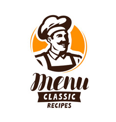 Restaurant menu logo or label food concept vector