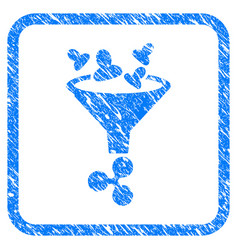 Ripple sales funnel framed stamp vector