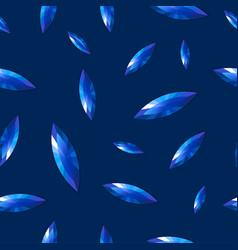 seamless pattern of blue gems vector image