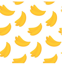 seamless pattern with yellow bananas in flat vector image