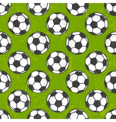Seamless soccer pattern background vector