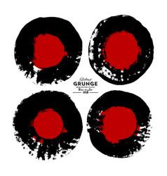set circles in grunge style grunge circle vector image
