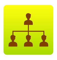 social media marketing sign brown icon at vector image