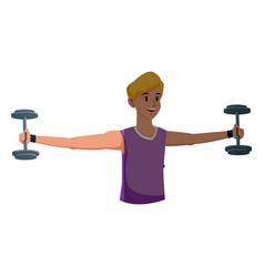sport boy barbell gym fitness design graphic vector image