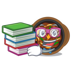 Student with book bulgogi isolated with in the vector