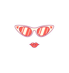 sunglasses and female lips vector image