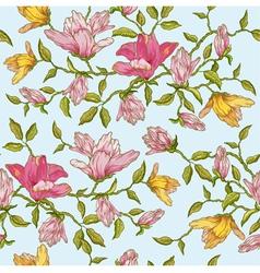 Vintage Floral Seamless Background vector