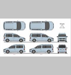 vw caddy life passenger van l1 l2 2015-present vector image