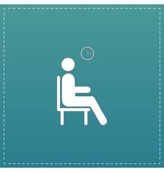 Waiting flat icon vector image