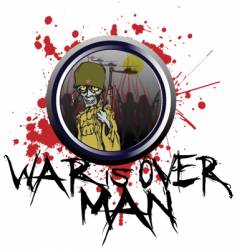 war is over man vector image