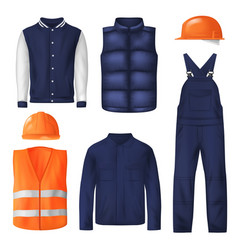 Work wear and sports clothes vector