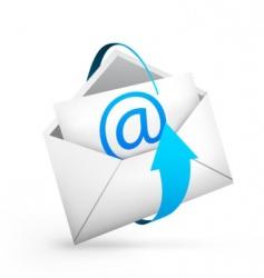 envelope arrow vector image vector image