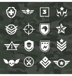Military symbol icons and logos special forces vector image vector image