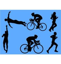triathlon vs vector image vector image