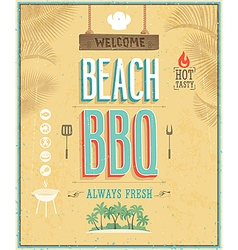 beach bbq vector image vector image