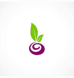 seed plant abstract organic logo vector image vector image