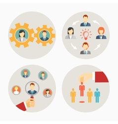 Set of business people and staff icons vector image vector image