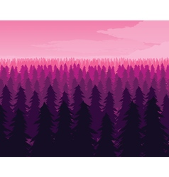 Background of landscape with deep fir forest vector image vector image