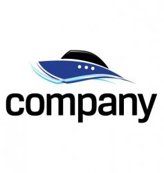 fast boat logo vector image vector image