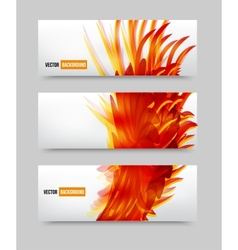 flower set banner brochure template vector image