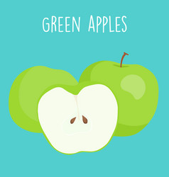 fresh green apples graphic vector image vector image