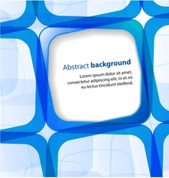 Blue square and frame background vector image vector image