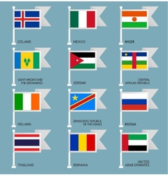 Flags set four-08 vector image vector image