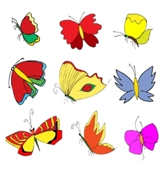 insects doodle set vector image