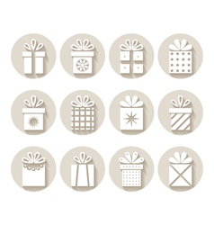 Set of gifts packages vector image vector image