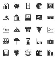 Stock market icons on white background vector image